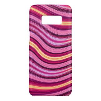 Coque Case-Mate Samsung Galaxy S8 Motif onduleux pourpre et jaune de rayures