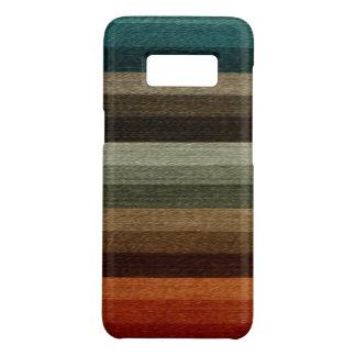 Coque Case-Mate Samsung Galaxy S8 Motif rayé d'automne chaud vintage, tons de la