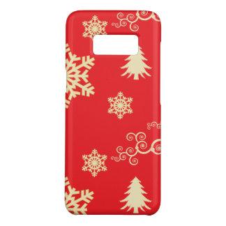 Coque Case-Mate Samsung Galaxy S8 Noël rouge avec les flocons de neige crèmes
