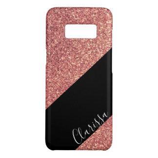 Coque Case-Mate Samsung Galaxy S8 Noir rose de parties scintillantes d'or de poussin