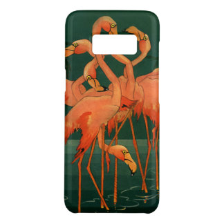 Coque Case-Mate Samsung Galaxy S8 Oiseaux vintages d'animal sauvage, flamants roses