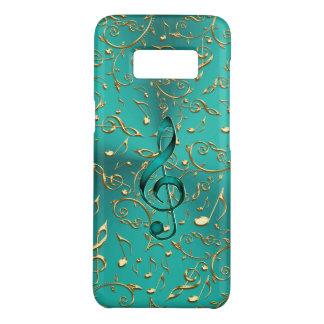 Coque Case-Mate Samsung Galaxy S8 Or et caisse de la galaxie S8 de notes et de clefs