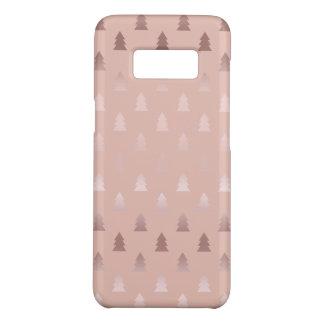 Coque Case-Mate Samsung Galaxy S8 Or rose élégant et motif rose d'arbre de Noël
