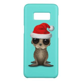 Coque Case-Mate Samsung Galaxy S8 Otarie de bébé utilisant un casquette de Père Noël