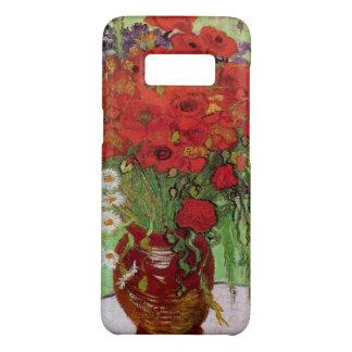 Coque Case-Mate Samsung Galaxy S8 Pavots de Van Gogh et marguerites rouges, fleurs