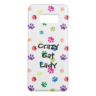 Coque Case-Mate Samsung Galaxy S8 Paws folle de chat de Madame Rainbow Painted