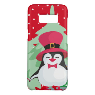Coque Case-Mate Samsung Galaxy S8 Pingouin de fête avec Sleigh - rouge