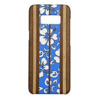 Coque Case-Mate Samsung Galaxy S8 Planche de surf hawaïenne en bois de Faux de