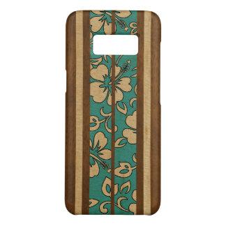 Coque Case-Mate Samsung Galaxy S8 Planche de surf hawaïenne vintage en bois de Faux