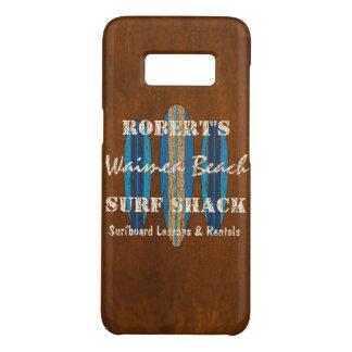 Coque Case-Mate Samsung Galaxy S8 Planches de surf de Hawaïen de monogramme de