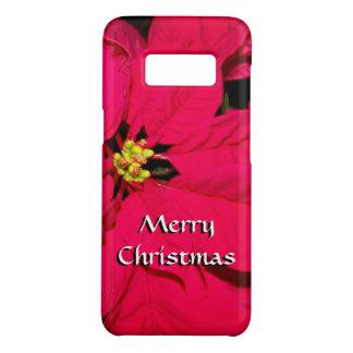 Coque Case-Mate Samsung Galaxy S8 Poinsettia de Noël - rouge
