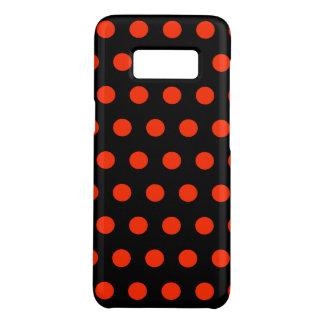 Coque Case-Mate Samsung Galaxy S8 Points rouges avec le backgroud noir - dessin