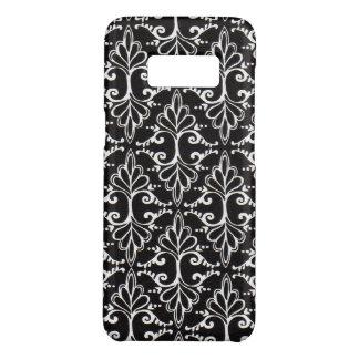 Coque Case-Mate Samsung Galaxy S8 Rouleaux blancs fleuris diagonaux de damassé sur