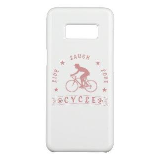 Coque Case-Mate Samsung Galaxy S8 Texte de Live Laugh Love Cycle de Madame (rose)