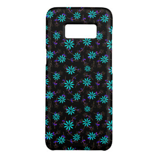 Coque Case-Mate Samsung Galaxy S8 Turquoise Eleganza floral noir 28