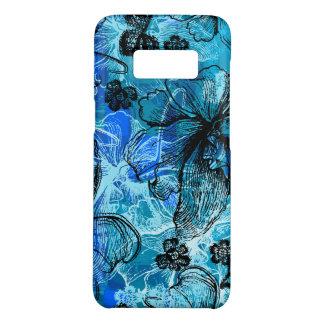 Coque Case-Mate Samsung Galaxy S8 Turquoise hawaïenne d'orchidée de dentelle de