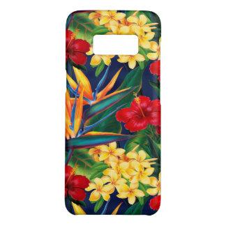 Coque Case-Mate Samsung Galaxy S8 Verticale florale hawaïenne de paradis tropical