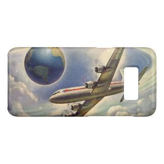 Coque Case-Mate Samsung Galaxy S8 Vol vintage d'avion autour du monde en nuages