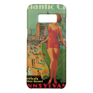 Coque Case-Mate Samsung Galaxy S8 Voyage vintage, blonde de plage de station de