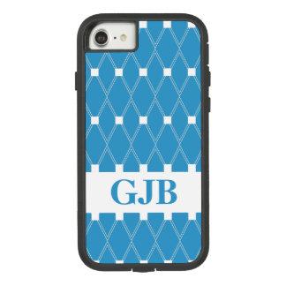 Coque Case-Mate Tough Extreme iPhone 7 Trellis à motifs de losanges bleu avec le