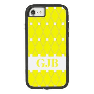 Coque Case-Mate Tough Extreme iPhone 7 Trellis à motifs de losanges jaune avec le