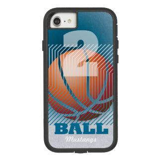 Coque Case-Mate Tough Extreme iPhone 8/7 BBall #2 sur la sarcelle d'hiver