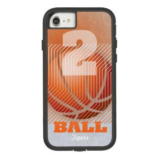 Coque Case-Mate Tough Extreme iPhone 8/7 BBall #2 sur l'orange