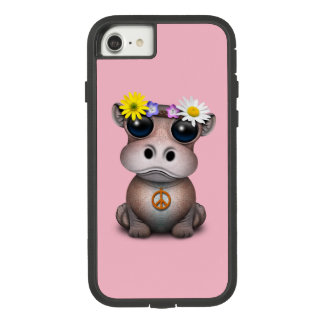 Coque Case-Mate Tough Extreme iPhone 8/7 Hippie mignonne d'hippopotame de bébé