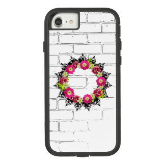 "Coque Case-Mate Tough Extreme iPhone 8/7 La guirlande ""raisin rose"" fleurit la caisse"