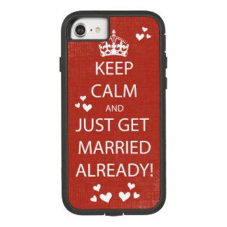 Coque Case-Mate Tough Extreme iPhone 8/7 Le cru GARDENT le CALME POUR SE MARIER