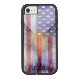 Coque Case-Mate Tough Extreme iPhone 8/7 Le drapeau | s'est fané Eagle | personnalisé