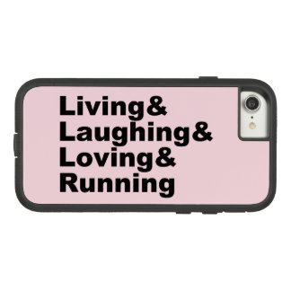 Coque Case-Mate Tough Extreme iPhone 8/7 Living&Laughing&Loving&RUNNING (noir)