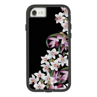 Coque Case-Mate Tough Extreme iPhone 8/7 L'orchidée blanche de lavande fleurit la caisse 8