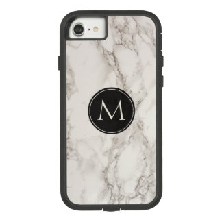 Coque Case-Mate Tough Extreme iPhone 8/7 Noir et blanc à la mode de monogramme de marbre de