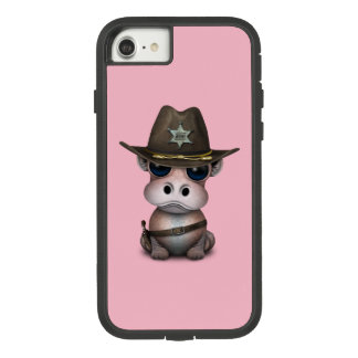 Coque Case-Mate Tough Extreme iPhone 8/7 Shérif mignon d'hippopotame de bébé