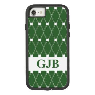 Coque Case-Mate Tough Extreme iPhone 8/7 Trellis à motifs de losanges vert avec le