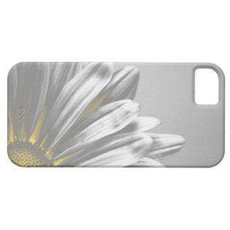 Coque-Compagnon floral jaune de l'iPhone 5 de poin