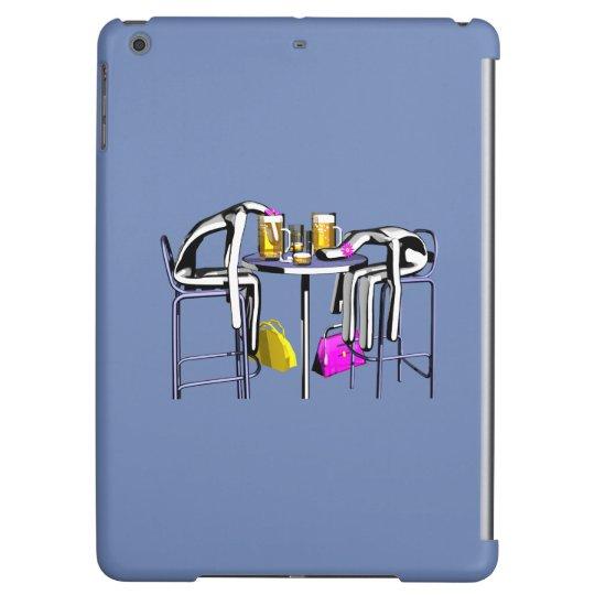 Coque Coups de bar femme 4 iPad bleu