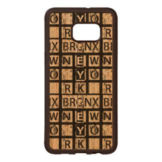 Coque En Bois Galaxy S6 Edg Typographie grunge de Bronx New York  