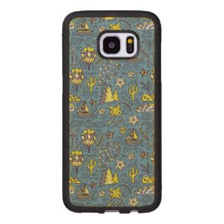 Coque En Bois Galaxy S7 Edge Amusement de voyage