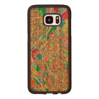 Coque En Bois Galaxy S7 Edge Carte colorée de Denver