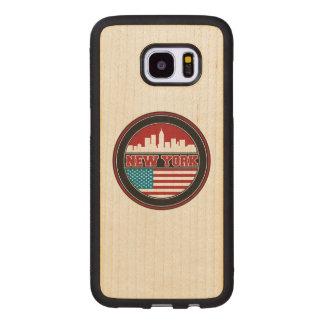 Coque En Bois Galaxy S7 Edge L'horizon | Etats-Unis de New York diminuent