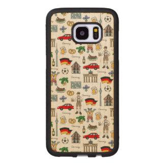 Coque En Bois Galaxy S7 Edge Motif de symboles de l'Allemagne |