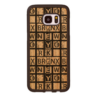 Coque En Bois Galaxy S7 Edge Typographie grunge de Bronx New York  