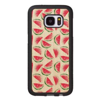 Coque En Bois Galaxy S7 Motif mignon d'ananas et de pastèque