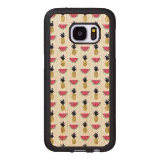 Coque En Bois Galaxy S7 Motif mignon de griffonnage d'ananas et de
