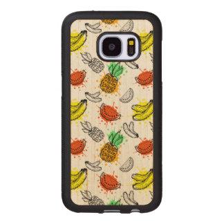 Coque En Bois Galaxy S7 Motif sans couture de graphique de vecteur