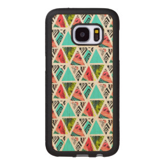 Coque En Bois Galaxy S7 Motif tropical abstrait coloré