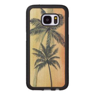 Coque En Bois Galaxy S7 Palmettes tropicales