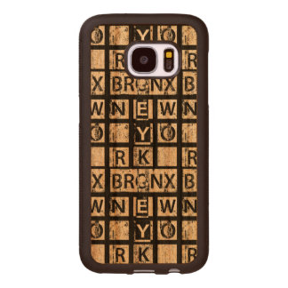 Coque En Bois Galaxy S7 Typographie grunge de Bronx New York  